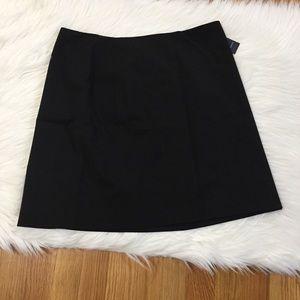 Canvas By Lands End Black Mini Skirt